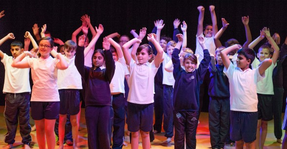Year 7 Students Dancing